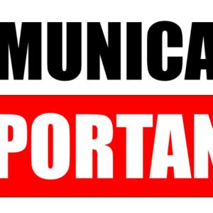 COMUNICADO FIM DE ANO – DATAS LIMITES PARA ENTREGA DE MATERIAL